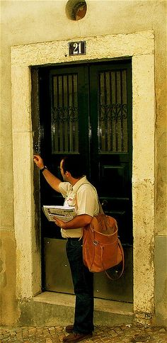 The postman, Lisbon, Portugal by pedrosimoes7,. .I HOPE YOU'LL FOLLOW ANY OF MY 5 GREAT BOARDS CONCERNING THE POST OFFICE MAILMEN VEHICLES MAILBOXES AND OTHER THINGS