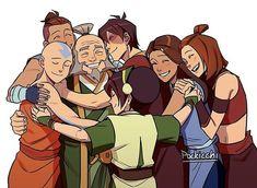 Avatar Aang, Avatar Airbender, Suki Avatar, Avatar Legend Of Aang, Avatar Funny, Avatar The Last Airbender Funny, Team Avatar, Suki And Sokka, The Legend Of Korra