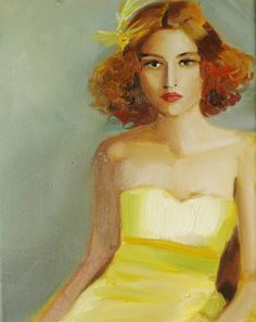 Janet Hill - Ruby And Her Yellow Bird Barrette