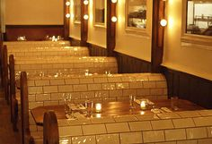 tiled booths
