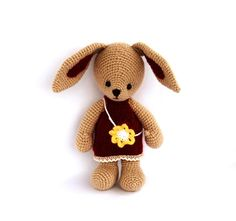 crochet toy bunny amigurumi cute toy stuffed rabbit por crochAndi