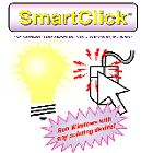 SmartClick: allows any user that can operate a pointing device (mouse, trackball, serial joystick, headmouse, single switch, etc), but cannot click the pointing device buttons, to have the computer do mouse button functions for them. Double-clicks, right-clicks, drags, keyboard options, Auto-Repeat (mouse clicks or up/down arrows), Close Window, & Escape key. #disabilities #accessibility