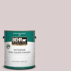 BEHR Premium Plus 1-gal. #110E-2 Brook Trout Zero VOC Semi-Gloss Enamel Interior Paint