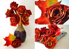 fall leaves wedding bouquet - Google Search