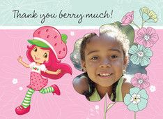 Thank You Berry Much Personalized Strawberry Shortcake Photo Thank You Notes