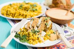 A whole roasted cauliflower is the centerpiece of this Tandoori Cauliflower with Indian-Spiced Quinoa recipe.
