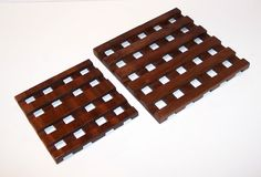Wood TRIVETS - Set of 2--Handcrafted from Mahogany hardwood by tomroche on Etsy