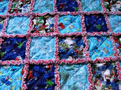 Christmas Snowman  Rag Quilt For Baby or Toddler by bobann23, $55.00