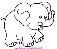 Dibujos Para Imprimir Y Colorear Elefante Para Colorear Moldes