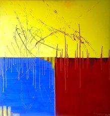 SALES Quadrate, 100x100cm, Acryl auf Leinwand by manuwa
