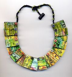 laced tile necklace by Ginny Henley, via Flickr