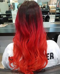 awesome 45 Thrilling Ways of Achieving the Red Ombre Hair - Sassy Flames Check more at http://newaylook.com/best-red-ombre-hair/