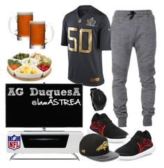 """""""Perfect for Super Bowl NFL"""" by iamastrea on Polyvore featuring NIKE, Alphason, Balmain, Y-3, Dot & Bo, LSA International, Diesel, mens, men and men's wear"""