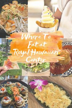 Holiday Events At Royal Hawaiian Center Crazy Food, Weird Food, Lunch Recipes, Great Recipes, Hawaiian Garlic Shrimp, Coffee Around The World, Burger Co, Burgers And More, Happy Hour Specials