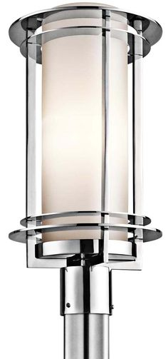 "Kichler Pacific Edge 19"" High Steel Outdoor Post Light -"