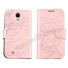 PU Leather Flip Wallet Case Cover Stand For Samsung Galaxy S4 SIV I9500 - Pink US$6.98