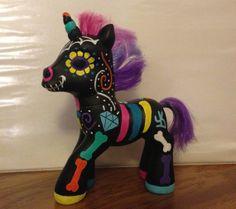 Muertos Pony Original My Little Pony Toy by UnicornKiddoArt, $35.00