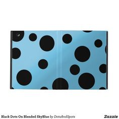Black Dots On Blended SkyBlue iPad Cover