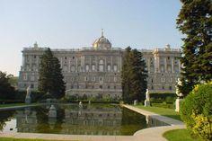 Madrid antiguo. Palacio real y jardines de Sabatini