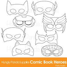Bande dessinée héros masques héros de bande par HappilyAfterDesigns