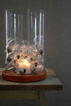 DIY lamp with old unused light bulbs. by Ирина Дубровская