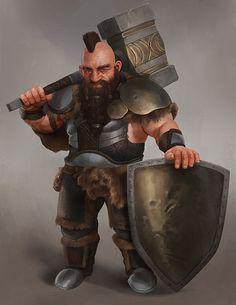 m Ranger Medium Armor Shield WarHammer male lg Fantasy Dwarf, Fantasy Rpg, Fantasy Artwork, Fantasy World, Dungeons And Dragons Characters, D D Characters, Fantasy Characters, Character Concept, Character Art