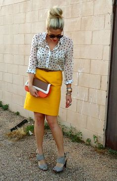 Another look for my yellow skirt :-)