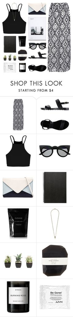 """Burning Rose"" by hiddlescat ❤ liked on Polyvore featuring Boohoo, Retrò, Jendi, Muji, Cleanse by Lauren Napier, Iosselliani, Pelle and Byredo"