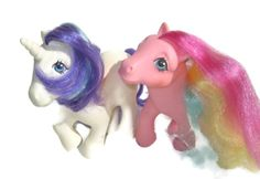 My little pony Bait TLC Glory Stripes rainbow purple 80s toys