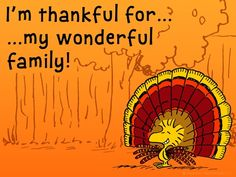 Peanuts Thankful for Family