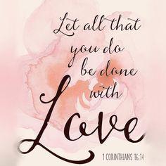 Hacer todo con amor