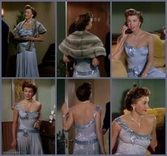 "Esther Williams is a stunning, shimmering gown designed by  Helen Rose in ""Duchess of Idaho"" (1950)"