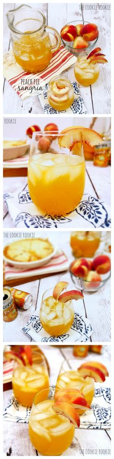 Peach Pie Sangria, perfect cocktail for Spring! The Cookie Rookie