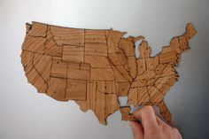 United States Magnetic Geography Puzzle. pretty cool!