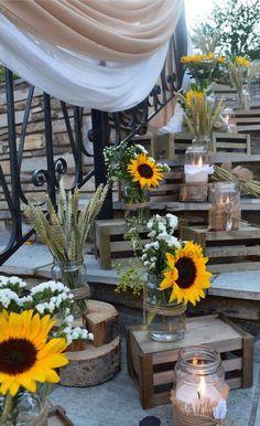 #διακόσμησηγάμου #γάμοςμεηλιοτρόπια #στολισμόςεκκλησίας #weddingideas #weddingsunflowers #weddingdecoration