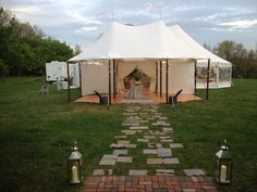 Colin Cowie Celebrations used our tidewater tents for an amazing entryway/dinner tent.