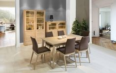 Modern dining space, ideas for dining room from Klose. #diningroom #KloseFurniture #homeideas
