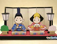 The prince and princess! This would be perfect for the mantel since I really can't afford real Hina-ningyo.