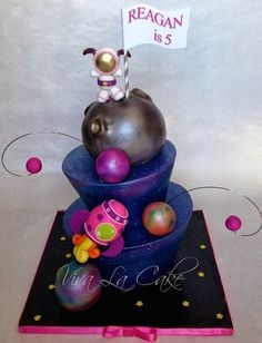 Space kid and rocket cake by Viva La Cake- Cake Wrecks - Home - Sunday Sweets... In... SPAAAACE!