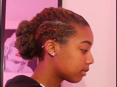 Flat Twisted Bun Protective Hairstyle