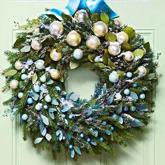 Learn how we made this shimmering Christmas wreath: http://www.bhg.com/christmas/wreaths/christmas-wreaths/