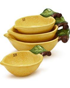 Lemon Measuring Cups, Set of 4http://www.bhg.com/shop/sur-la-table-lemon-measuring-cups-set-of-4-p52e03f10e4b0832491c4e046.html