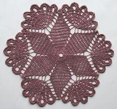 Crochet doily light lavender small lace doilie 12 от Draiguna
