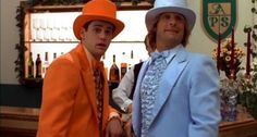 """Now these are some stylish suits...would you like to see @mrsilverscott and I dress up as Llyod and Harry from """"Dumb and Dumber""""?"""