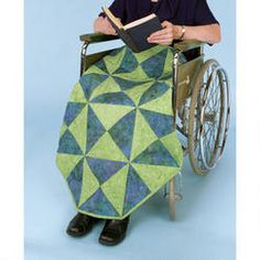 """Batik Leg Cozies Quilt Kit- quilt is   27""""x 36"""" and has the bottom corners angled so that it doesn't get tangled in wheelchair!"""