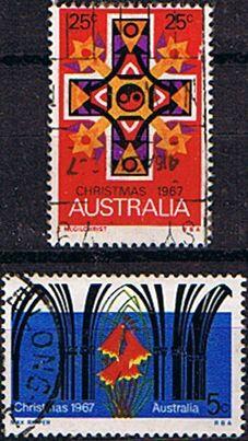 Australia 1967 Christmas Set Fine Used SG 415 6 Scott 429 30 Other Australian Stamps HERE