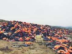 Moments like this make the news real. 450000 life jackets and each one belongs to someone unique. Being here helps to put faces and character to the people you see on the news. People who've left families jobs schools. Some of them are bitter sad and hate their country. Some want to return one day but all are looking for safety and security. I've met many kind people anxious to help to talk with us and who appreciate our efforts. It's been an incredible first week. A lot of challenges but…