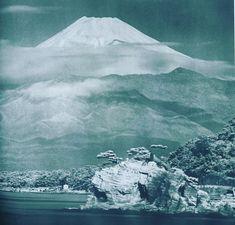 A beautiful photo of Mount Fuji in taken by Koyo Okada Mount Fuji, Natural Earth, Nature Photos, Mother Earth, Old Photos, Mountain, Scene, Asian, Japanese