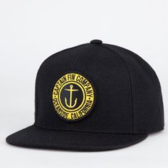 9812720be096f CAPTAIN FIN Anchor Button Mens Snapback Hat