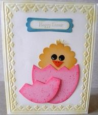 http://progresslightingparts.com  Stampin Up! Easter chick from punches handmade card punch-art-die-cuts #home #lighting #decor #interiordesign